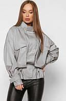 Женская демисезонная куртка-ветровка из светоотражающей ткани, оригинал
