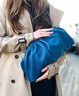 Женская кожаная сумка SHELL синяя, фото 1