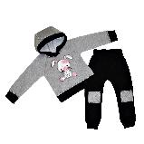 Костюм дитячий теплий байка товста Зайка 74-86 розміри, фото 3