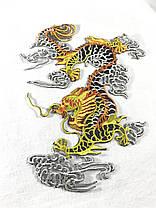 Нашивка Дракон левая сторона 140x190 мм, фото 2