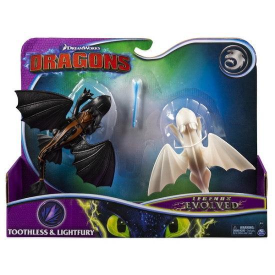 Как приручить дракона 3: набор из двух драконов Дневная Фурия и Беззубик SM66633  Spin Master