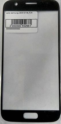 Стекло модуля для Samsung G930 / S7 Black, фото 2
