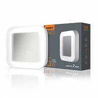 LED світильник ART (ЖКГ) квадратний VIDEX 15W 5000K 220V