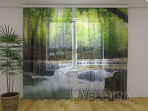 ФотоТюль Водоспад у весняному лісі 250 см х 260 см