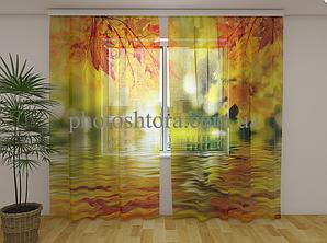 ФотоТюль Золоті листя 250 см х 260 см