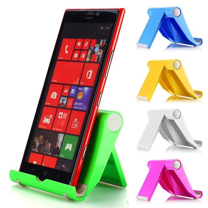 """Підставка для мобільного телефону / планшета (до 11"""") розкладні (регулювання кута нахилу / 6 кольорів)"""
