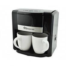 Кофеварка капельная на 2 чашки кофемашина кофеаппарат Domotec MS-0708