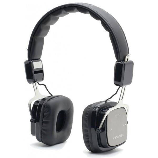 Бездротові Bluetooth-навушники накладні Awei A750BL Black