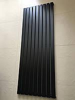 Дизайнерский вертикальный радиатор отопления TM ARTTIDESIGN «Livorno 9/1600» Цвет чёрный матовый.