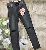 Подростковые модные стильные джинсы для девочки рост 134-164