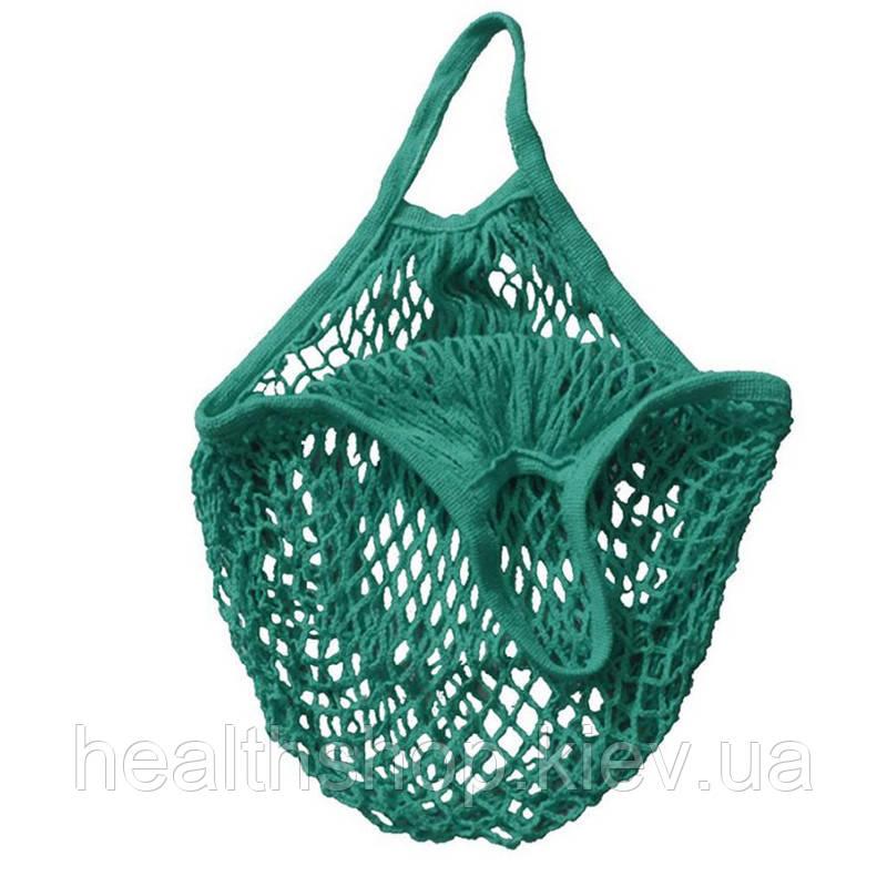 Класична Авоська, сумка сіточка (темно зелений, трав'яний колір)