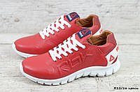Мужские кожаные кроссовки Reebok  Sublite (весна-осень, натуральная кожа, красные)