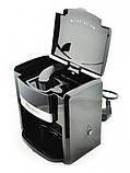 Кофеварка капельная на 2 чашки кофемашина кофеаппарат Domotec MS-0708, фото 6