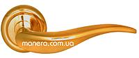 Дверные ручки на круглой розетке BRILLANTI AL-051 PB (полированная латунь)