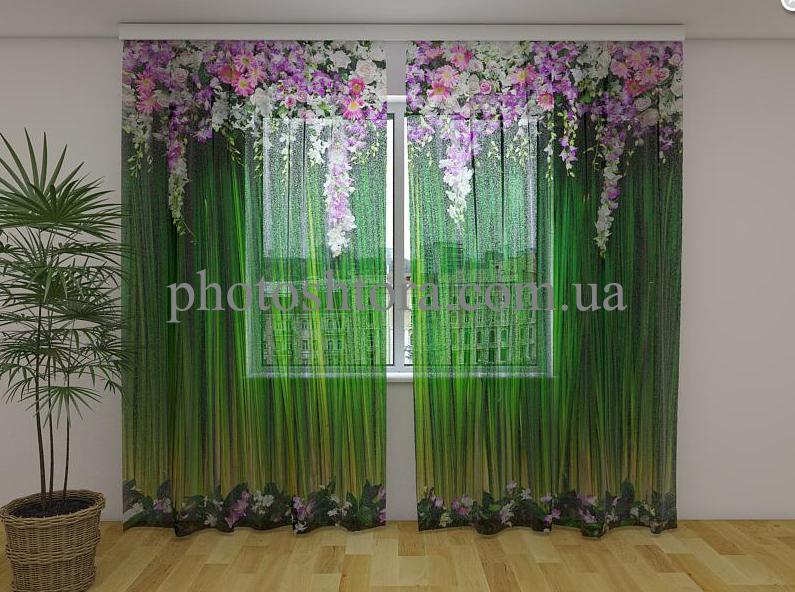 ФотоТюль Лембрекены из цветов  250 см х 260 см