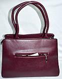 Женские сумки из искусственной кожи с длинными ручками 34*24 см (серая и хаки), фото 3