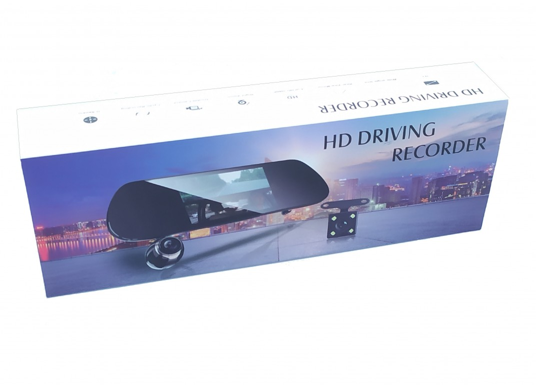 Зеркало видеорегистратор V9TP (3 камеры)