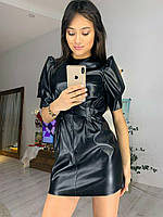 Платье из эко кожа Зара, фото 1