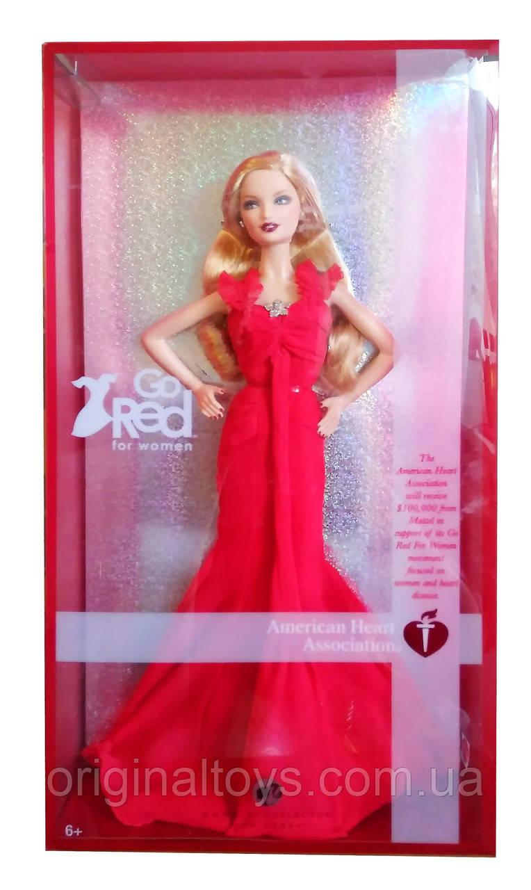 Коллекционная кукла Барби Barbie Go Red For Women 2007 Mattel K7957