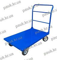 Платформовий візок з бортом для вантажу (Універсальна ручка) РПТ-008- 160М