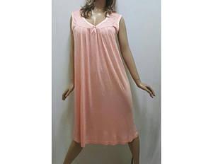 Ночная рубашка женская из легкой вискозной ткани, размеры от 50 до 56, Украина, фото 2