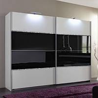 Шкаф купе черный с белым комбинированный 2 двери