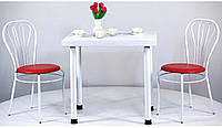 Металлическая база для столов Кая Белый