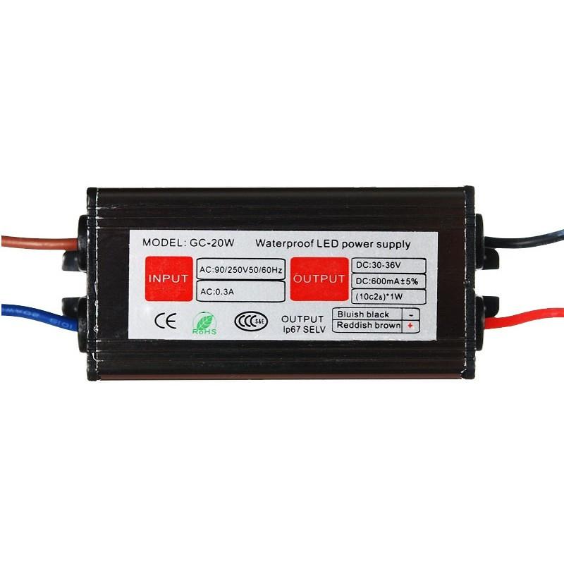 Драйвер светодиода LED 1x40W 25-37V IP67 для прожектора