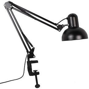 Настольная лампа на струбцине FERON DE1430 черная под лампу E27, фото 2
