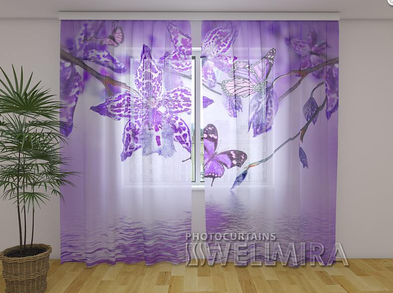 ФотоТюль Фиолетовая Орхидея 250 см х 260 см