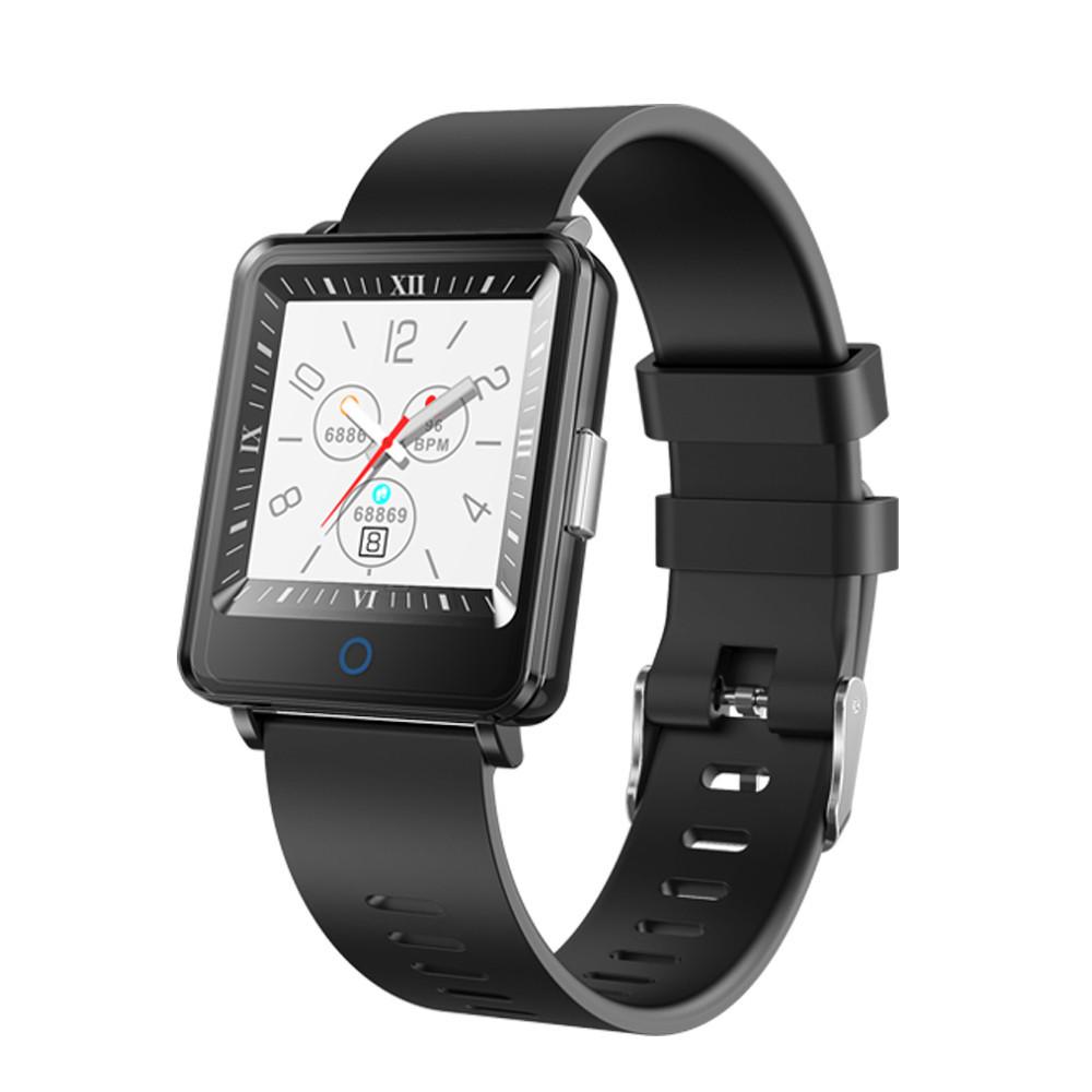 Умные часы Lemfo CV16 Silicon с двойным дисплеем (Черный)