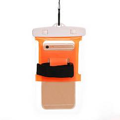 """Водонепроникний чохол пляжний / похідний для документів / телефону (до 6.0"""") (шнурок на шию, ремінь на руку) БІЛИЙ"""