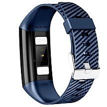 Умный фитнес браслет NO.1 DT58 с ЭКГ и тонометром (Синий), фото 2