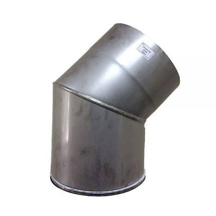 Фабрика ZIG Отвод 45° для дымохода D-350 мм толщина 1 мм, фото 2