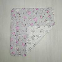 Детское хлопковое одеяло Т.М.Миля Балерины с мишками 80 х 85 см