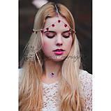 """Богемная цепочка-диадема украшение """"Сердца"""" 17048 на голову, фото 2"""