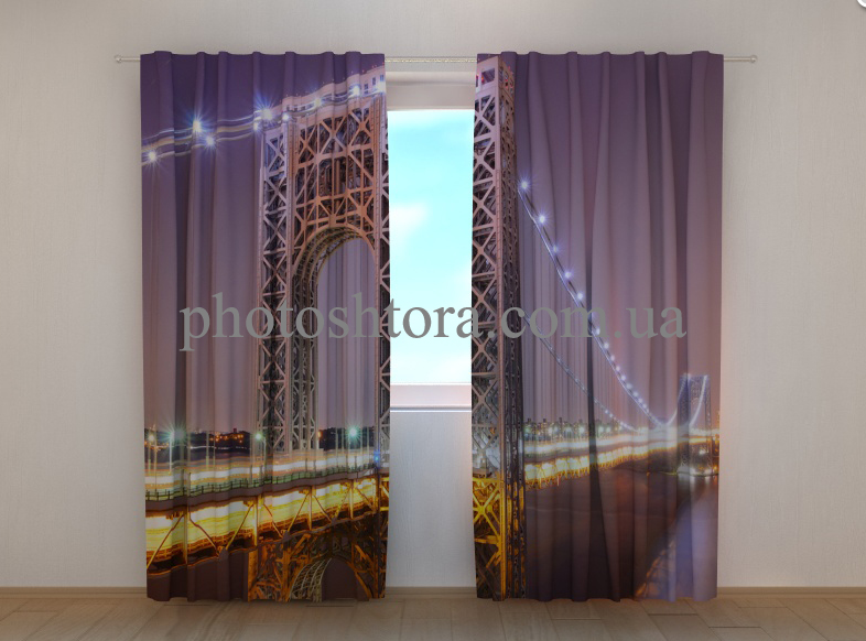 "Фото шторы ""Мост Дж. Вашингтона"" 250 х 260 см"