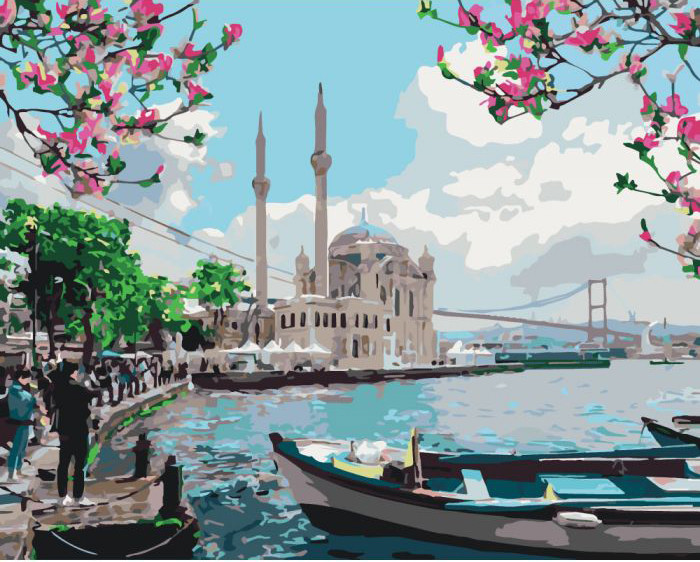 Картина по номерам Турецкое побережье 40*50 см Идейка, КНО2166, 303879