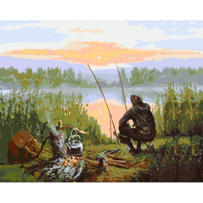 Картина по номерам Сельский пейзаж Отдых у реки 40*50 см Идейка, КНО2241, 946494