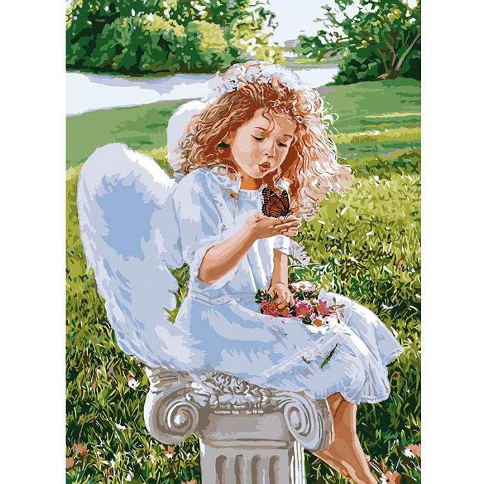 Картина по номерам Дыхание ангела 35*50 см Идейка, КНО2330, 310006