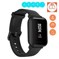 Смарт часы умные фитнес GPS водостойкие Xiaomi Huami Amazfit, черные
