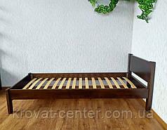 """Односпальная кровать из массива натурального дерева """"Эконом"""" (80х200) лесной орех, фото 3"""