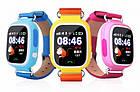 Детские смарт часы Q90 Gsm, sim, Sos,Tracker Finder Smart Watch Синие, фото 2