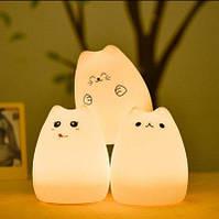 Ночной светильник, ночник силиконовый Котик Sleep Lamp