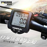 Велокомпьютер YONGRUIH / SODLON / SUNDING / B-SQUARE 570 проводной (подсветка экрана, датчик температуры)