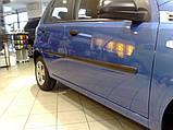 Молдинги на двери для Сhevrolet Aveo T200, T255 5Dr, ZAZ Vida хетчбек 2002+, фото 3