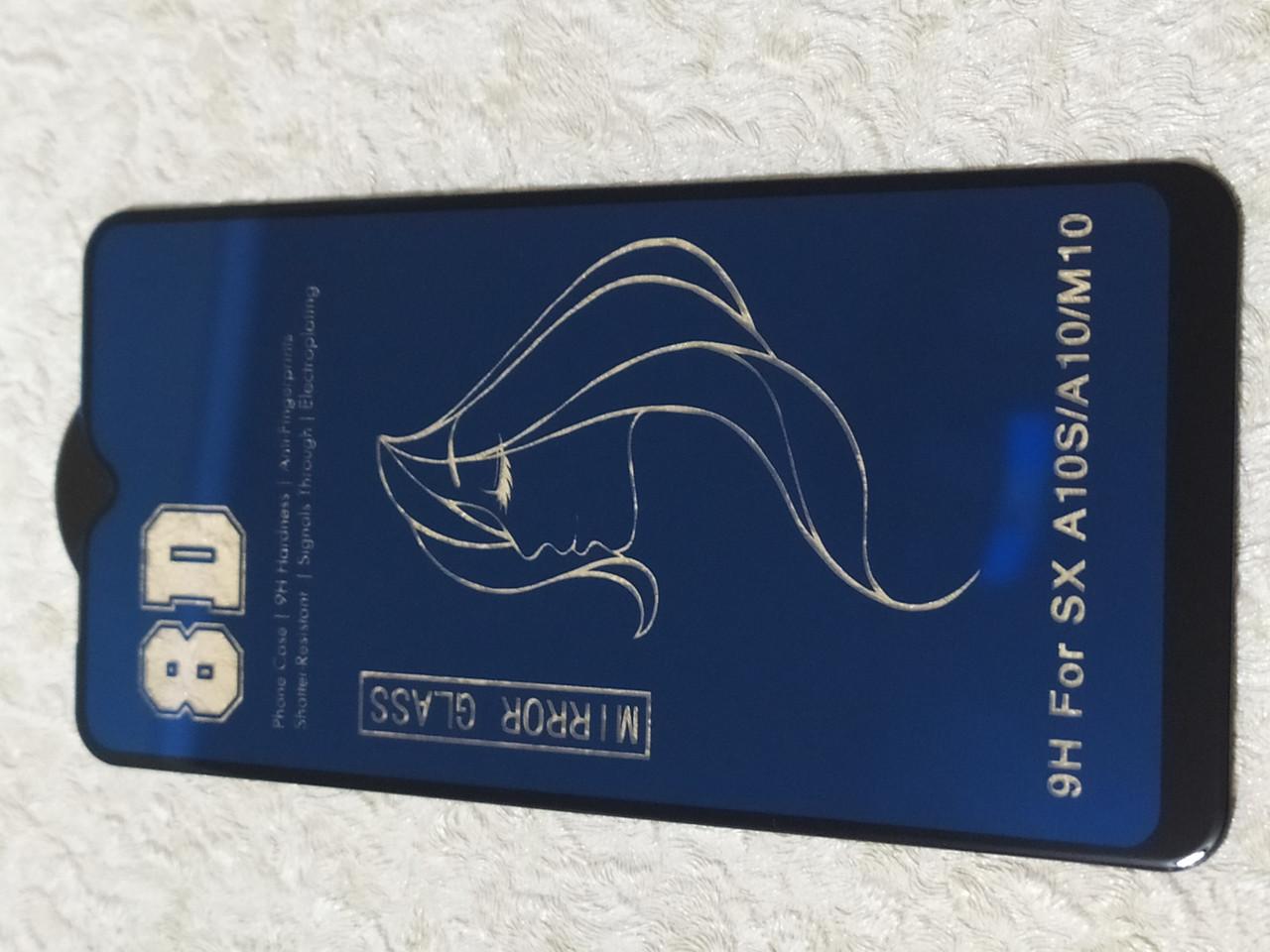 Захисне 8D скло Samsung A10s / A10 / M10 2019 ( блакитний)
