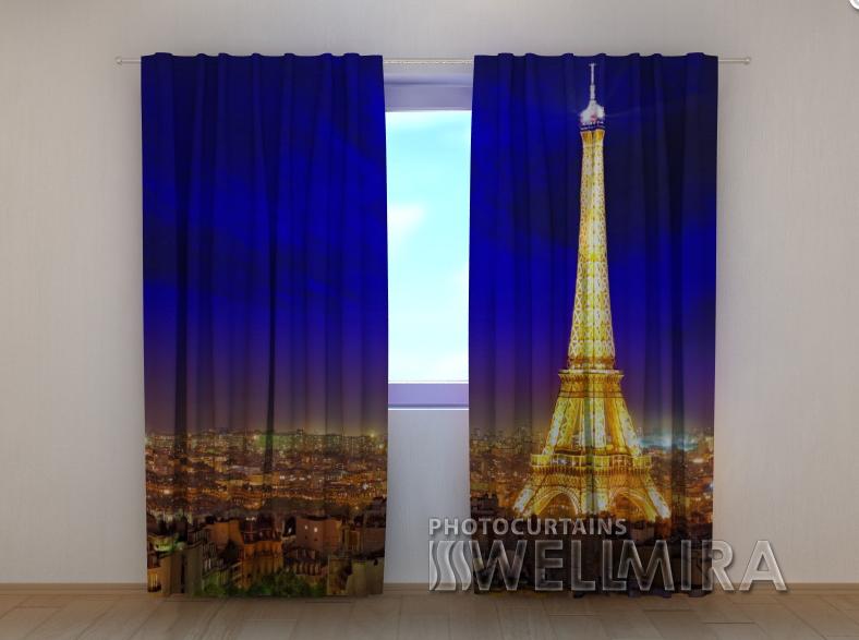 """Фото шторы """"Блеск Парижа"""" 250 х 260 см"""
