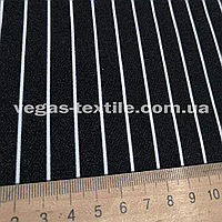 Ткань Креп Костюмка Барби( Черно-Белый)