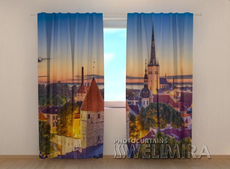 """Фото шторы """"Рассвет в Таллинне"""" 250 х 260 см"""
